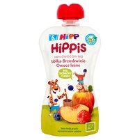 HiPP BIO HiPPiS Jabłka-Brzoskwinie-Owoce leśne Mus owocowy po 6. m-cu