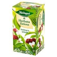 HERBAPOL Herbata zielona Kwitnąca Wiśnia (20 tb.)