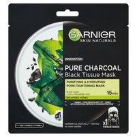 GARNIER Pure Charcoal Oczyszczająca maska na tkaninie z węglem