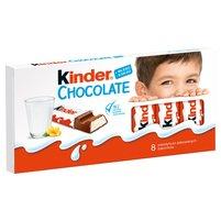 KINDER Chocolate Batoniki z mlecznej czekolady z nadzieniem mlecznym (8 szt.)