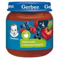 GERBER Jabłuszka z owocami leśnymi dla niemowląt po 4. m-cu