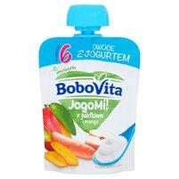 BOBOVITA JogoMi! Owoce z jogurtem z jabłkiem i mango po 6. m-cu
