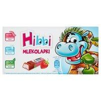 Hibbi Mlekoladki Batoniki mleczne z nadzieniem o smaku jogurtowo-truskawkowym 100 g