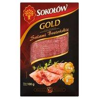 SOKOŁÓW Gold Salami Bretoński w plastrach