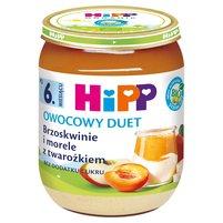 HiPP BIO Owocowy Duet Brzoskwinie i morele z twarożkiem po 6. m-cu