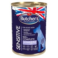 Butcher's Sensitive Karma dla psów dorosłych psów pasztet z jagnięciną i ryżem 390 g