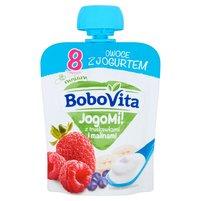 BOBOVITA JogoMi! Owoce z jogurtem z truskawkami i malinami po 8 m-cu