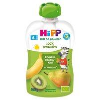HiPP BIO HiPPiS Gruszki-Banany-Kiwi Mus owocowy po 6. m-cu