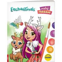 AMEET Enchantimals. Maluj farbami (okładka miękka)
