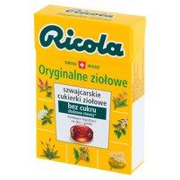 RICOLA Szwajcarskie cukierki ziołowe oryginalne ziołowe