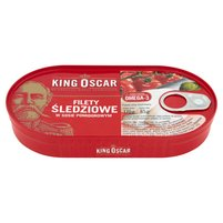 KING OSCAR Filety śledziowe w sosie pomidorowym