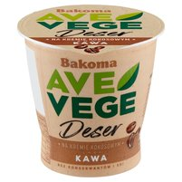 BAKOMA Ave Vege Deser na kremie kokosowym smak kawa