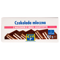ECO+ Czekolada mleczna z nadzieniem o smaku jogurtowym