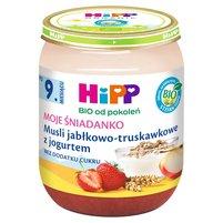 HiPP BIO Moje Śniadanko Musli jabłkowo-truskawkowe z jogurtem po 9. m-cu