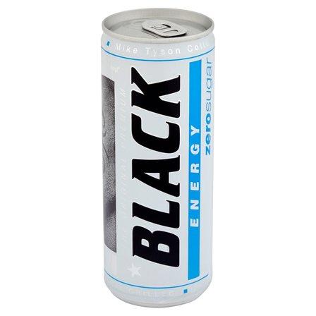 BLACK Energy Zero Sugar Gazowany napój energetyzujący bez cukru (1)