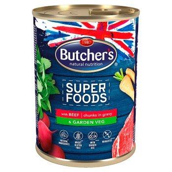 Butcher's Super Foods Karma dla dorosłych psów kawałki w sosie z wołowiną i warzywami 400 g (1)