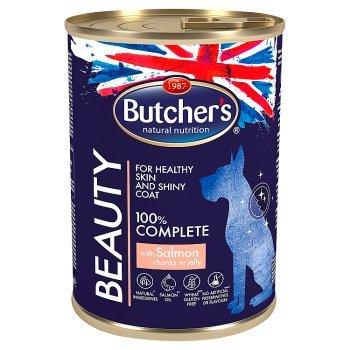 Butcher's Beauty Karma dla dorosłych psów kawałki w galaretce z łososiem 400 g (1)