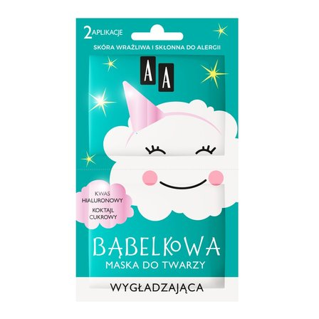 AA Chmurka Bąbelkowa maska do twarzy wygładzająca (1)