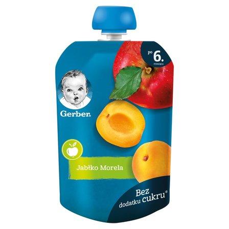 GERBER Deserek jabłko morela dla niemowląt po 6. m-cu (1)