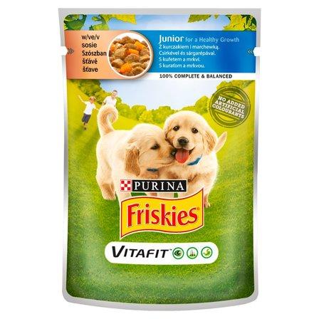 FRISKIES Vitafit Junior z kurczakiem i marchewką w sosie Karma dla szczeniąt (1)
