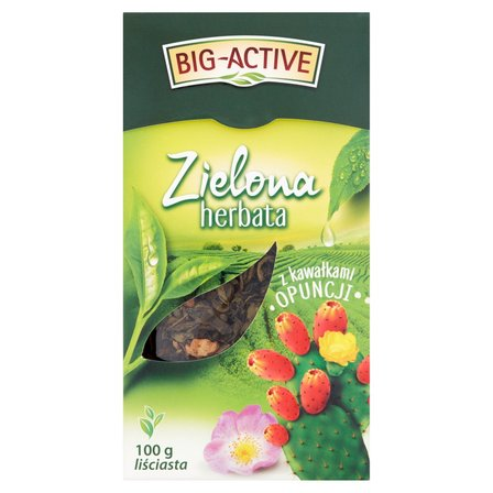 BIG-ACTIVE Herbata zielona z kawałkami opuncji (2)