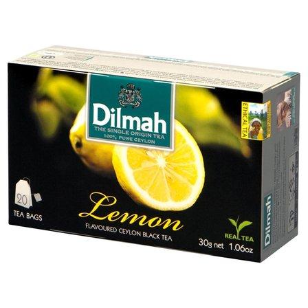 DILMAH Lemon Czarna herbata z aromatem cytryny (20 tb.) (1)