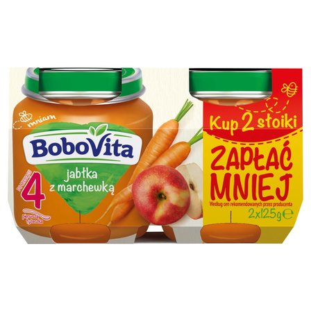 BOBOVITA Jabłka z marchewką po 4. m-cu (2 szt.) (2)