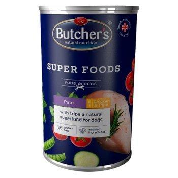 Butcher's Super Foods Karma dla dorosłych psów pasztet z kurczakiem i flaczkami 1200 g (1)
