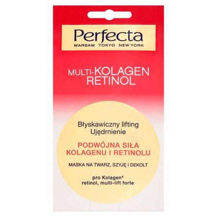 PERFECTA Multikolagen-Retinol Maska na twarz szyję i dekolt Błyskawiczny lifting Ujędrnienie (1)