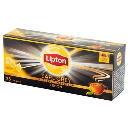 LIPTON Earl Grey Lemon Herbata czarna (25 tb.) (1)