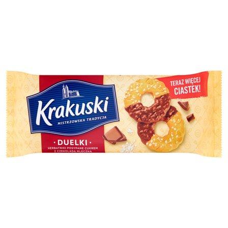 KRAKUSKI Duelki Herbatniki posypane cukrem z czekoladą mleczną (1)
