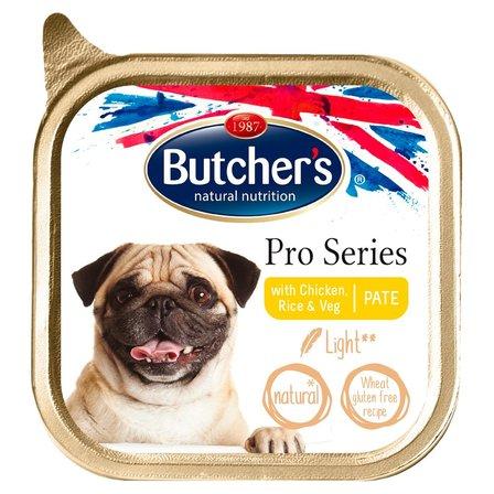 BUTCHER'S Pro Series Light Karma dla psów dorosłych pasztet z kurczakiem ryżem i warzywami (1)