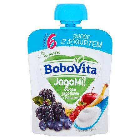 BOBOVITA JogoMi! Owoce z jogurtem owoce jagodowe z bananem po 6. m-cu (1)