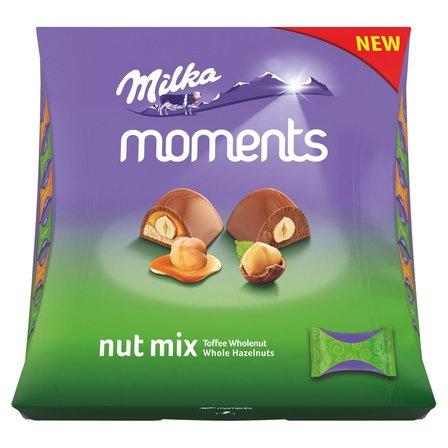 MILKA Moments Mieszanka czekoladek mlecznych Nut Mix (19 sztuk) (1)