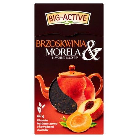 BIG-ACTIVE Brzoskwinia & Morela Liściasta herbata czarna z kawałkami owoców (2)