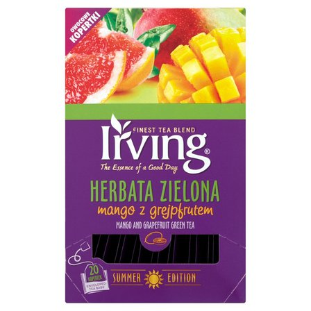 IRVING Herbata zielona mango z grejpfrutem (20 tb.) (2)
