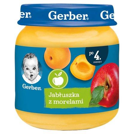 GERBER Jabłuszka z morelami dla niemowląt po 4. m-cu (1)