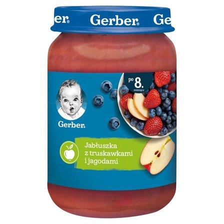 GERBER Jabłuszka z truskawkami i jagodami dla niemowląt po 8. miesiącu (1)