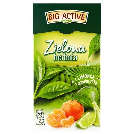 BIG-ACTIVE Zielona herbata z limonką i mandarynką (20 tb.) (2)