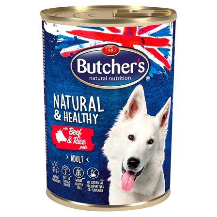 BUTCHER'S Natural & Healthy Karma dla dorosłych psów pasztet z wołowiną i ryżem (1)