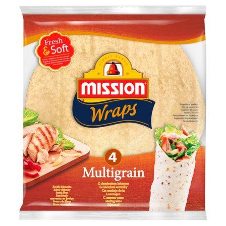 MISSION Wraps Tortille z mąki pszennej z siemieniem lnianym (4 sztuki) (1)