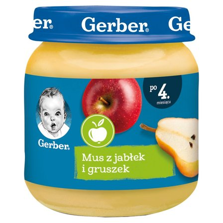 GERBER Mus z jabłek i gruszek dla niemowląt po 4. m-cu (1)