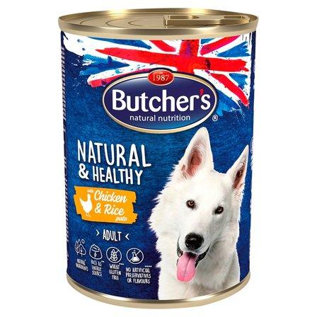 BUTCHER'S Natural & Healthy Karma dla dorosłych psów pasztet z kurczakiem i ryżem (1)
