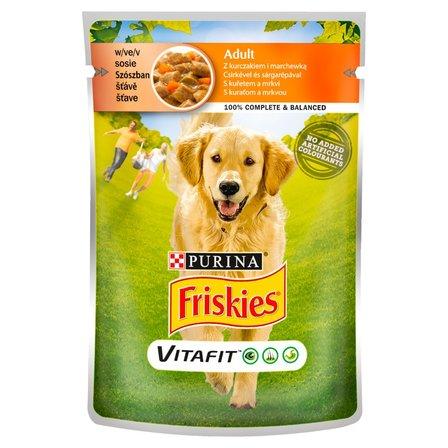 FRISKIES Vitafit Adult z kurczakiem i marchewką w sosie Karma dla dorosłych psów (1)