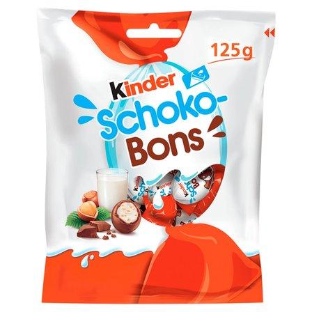 KINDER Schoko-Bons Czekoladki z mlecznej czekolady z nadzieniem mlecznym i orzechami (1)