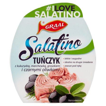 GRAAL Salatino Tuńczyk z kukurydzą marchewką groszkiem i czarnymi oliwkami (2)