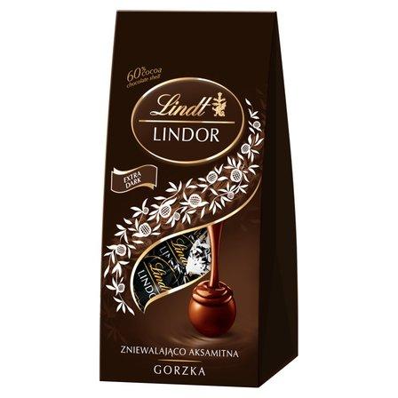 LINDT Lindor Gorzka Pralinki z czekolady gorzkiej z nadzieniem (1)