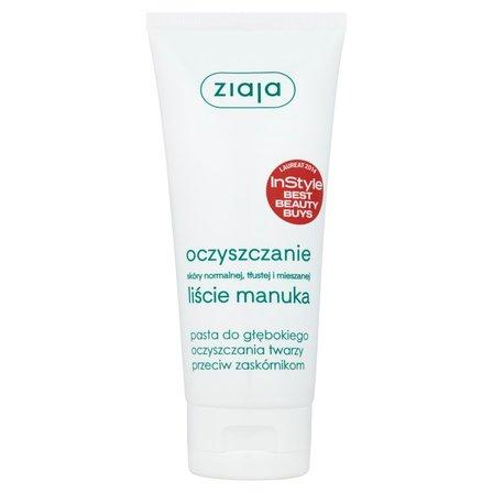ZIAJA Oczyszczanie Liście manuka Pasta do głębokiego oczyszczania twarzy przeciw zaskórnikom (1)