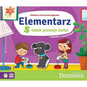 ZIELONA SOWA Domowa akademia. Elementarz. 5-latek poznaje świat (okładka miękka) (1)