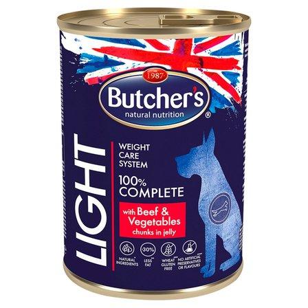 BUTCHER'S Light Karma dla dorosłych psów kawałki w galaretce z wołowiną i warzywami (1)